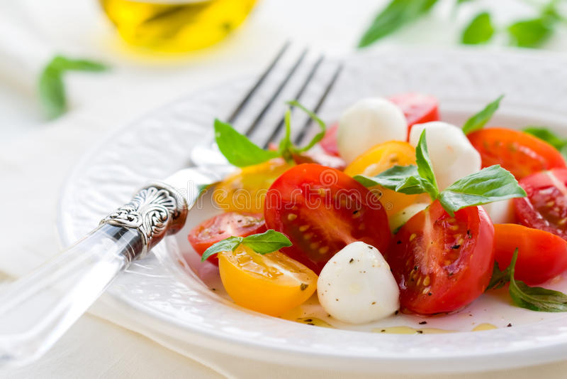 caprese σαλάτα στοκ εικόνες