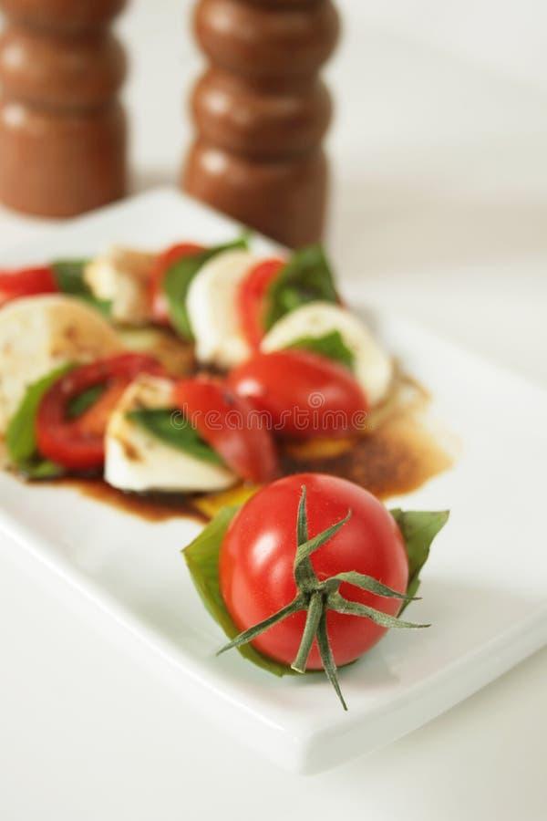 Caprese appetizer stock photos
