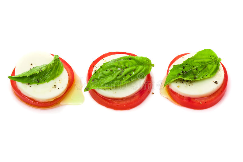 caprese insalata arkivfoton