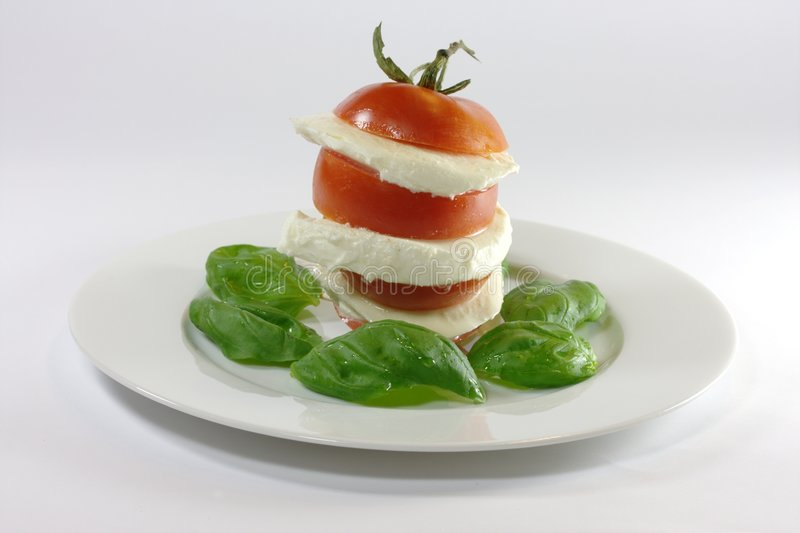 caprese insalata 免版税图库摄影