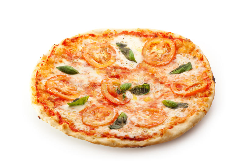 Caprese pizza royaltyfria foton