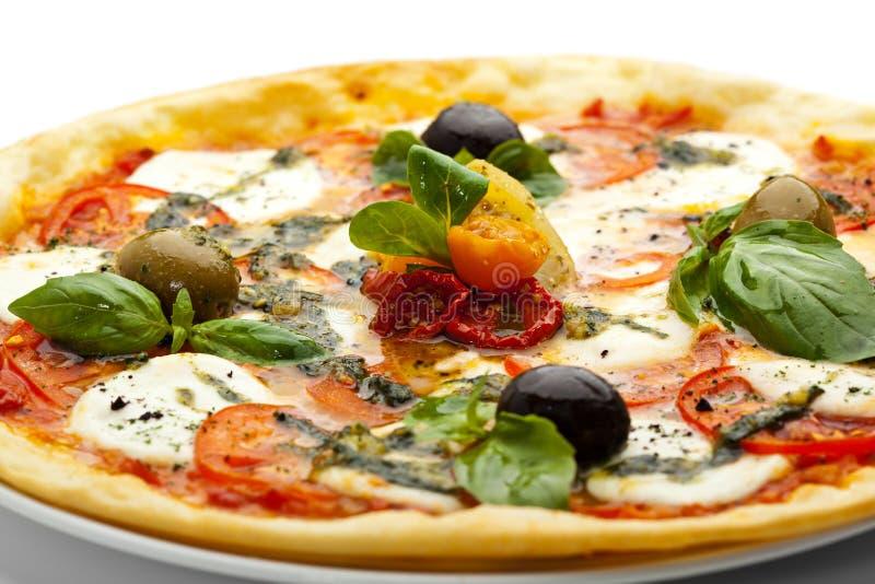 Caprese pizza fotografering för bildbyråer