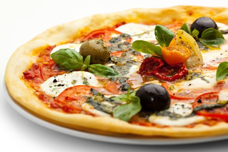 Caprese pizza zdjęcia royalty free