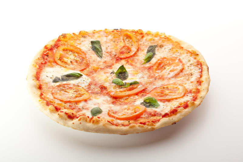 Caprese pizza arkivfoto