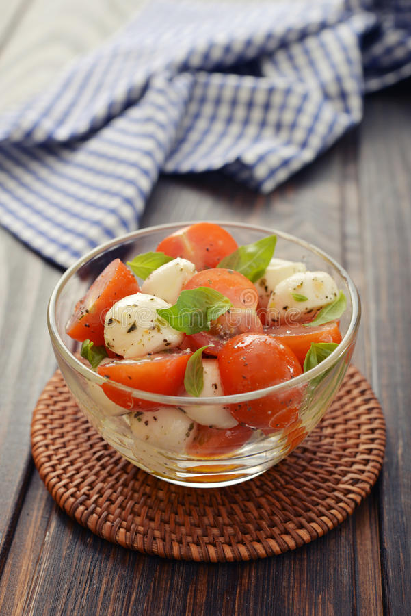 Download Caprese salad stock image. Image of dinner, cuisine, cheese - 39308067