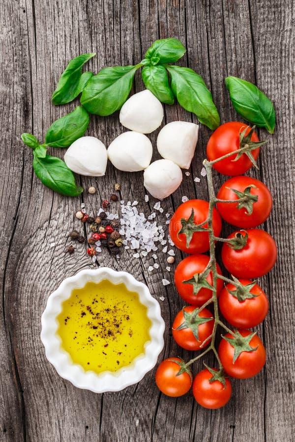 Caprese salad ingredients stock image