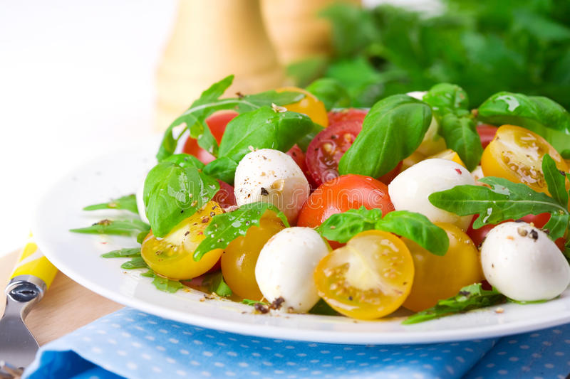 Download Caprese Salad stock image. Image of cheese, salad, green - 31463753