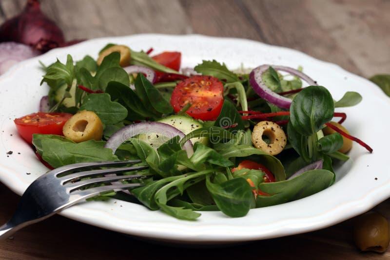 Caprese Salada de Caprese Salada italiana Salada mediterrânea imagem de stock