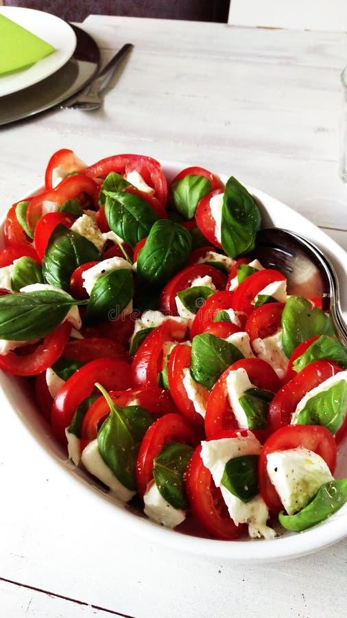 Caprese Salade stock afbeelding