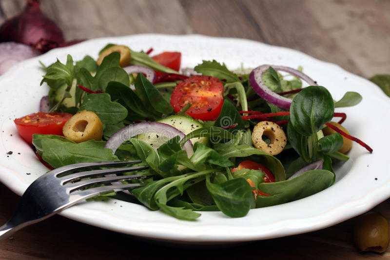 Caprese salade caprese Salade italienne Salade méditerranéenne image stock