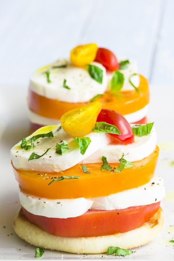 Download Caprese Stack stock photo. Image of olive, caprese, bread - 39507916