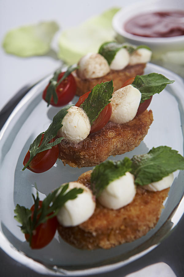 Caprese Starters Royalty Free Stock Image