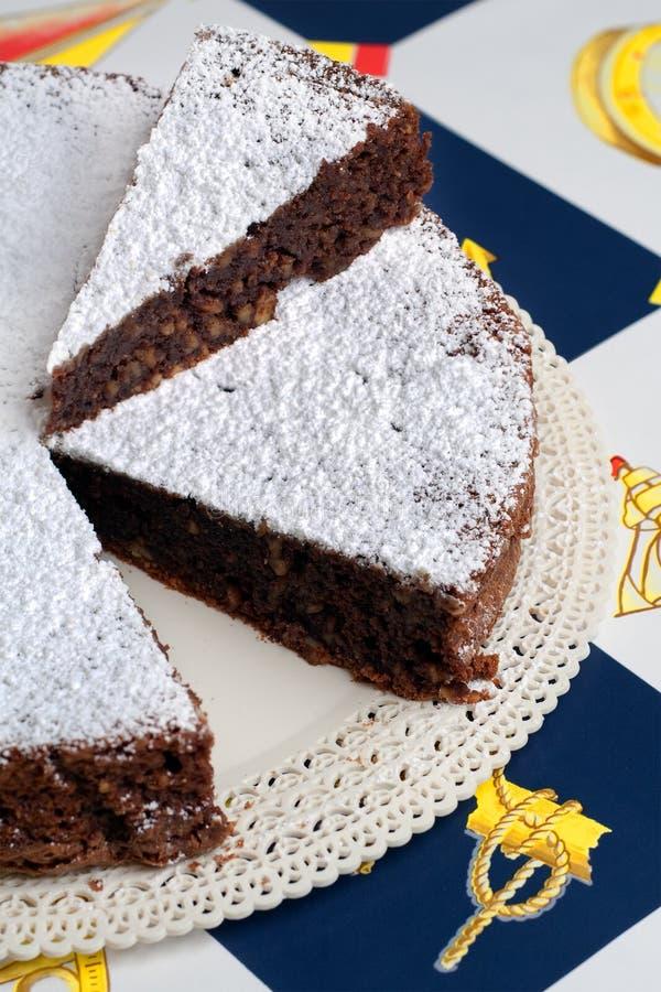 caprese torta 免版税库存照片