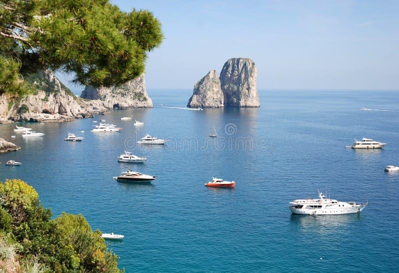 capri小岛意大利 图库摄影