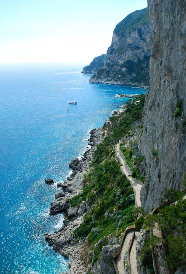 capri小岛 库存图片
