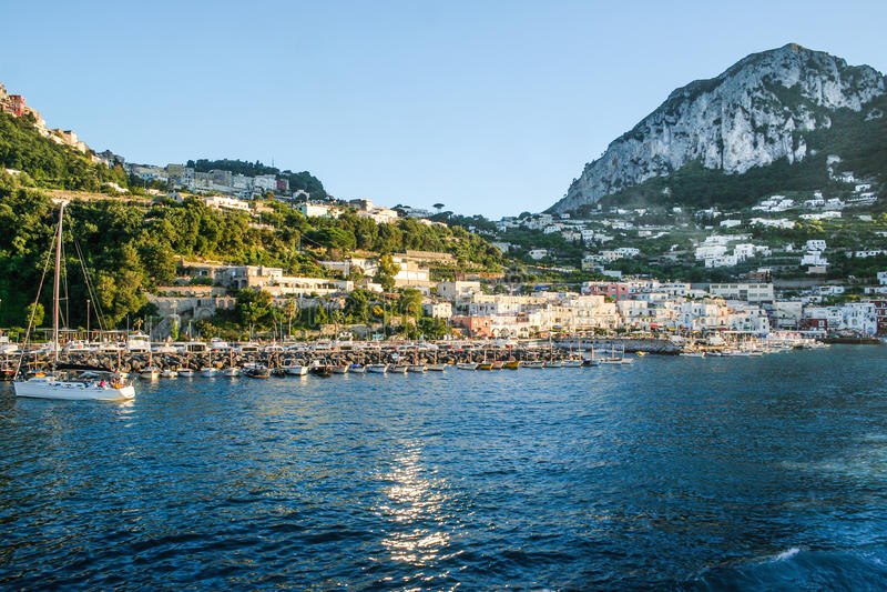 capri意大利 库存图片