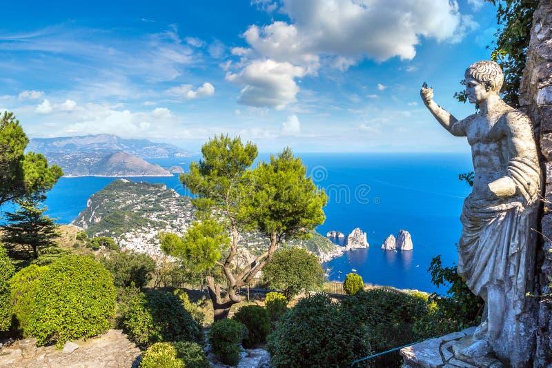 capri海岛意大利 库存图片