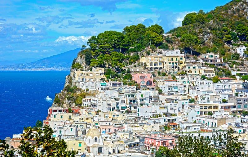 capri海岛意大利 库存照片