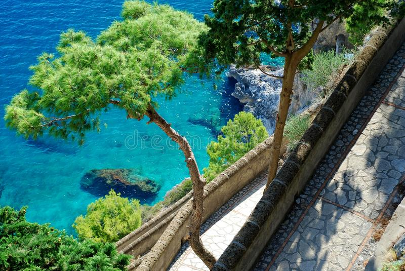 capri海岛krupp通过 免版税库存图片