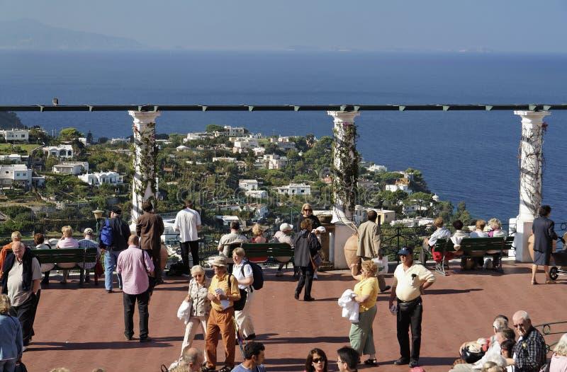 capri海岛piazzetta 库存照片