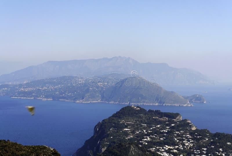 capri海岸sorrentine 免版税图库摄影