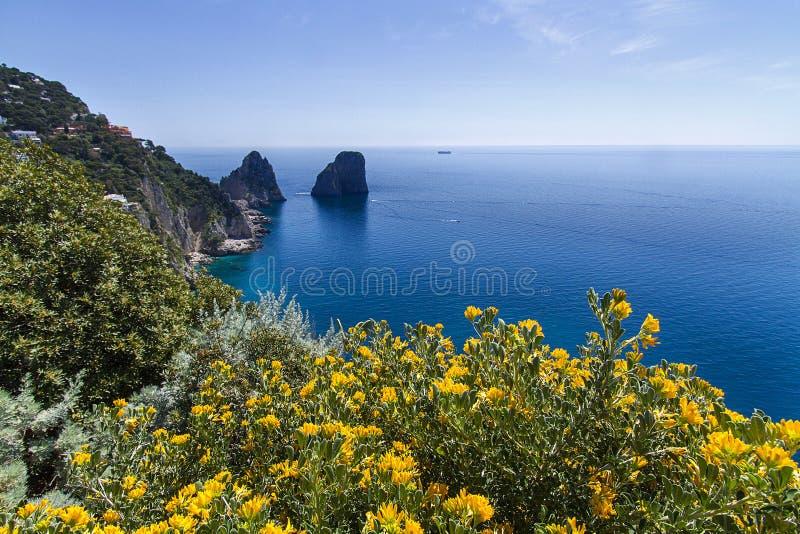 Capri ö fotografering för bildbyråer