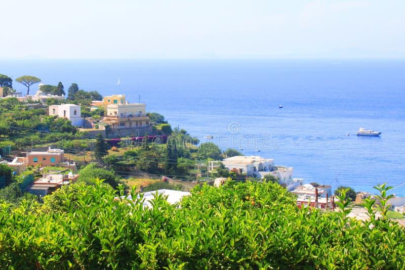 Capri ? i sommardag i Italien, Europa arkivbilder
