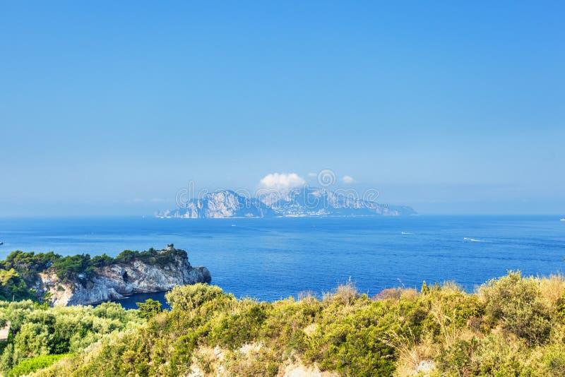 Capri ösikt royaltyfri bild