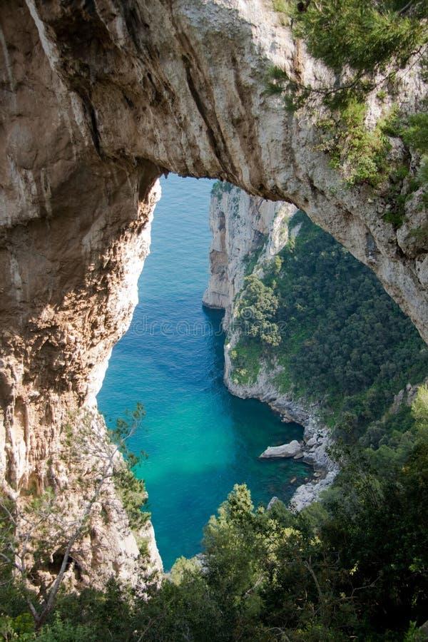 capri Ιταλία αψίδων φυσική στοκ φωτογραφία με δικαίωμα ελεύθερης χρήσης