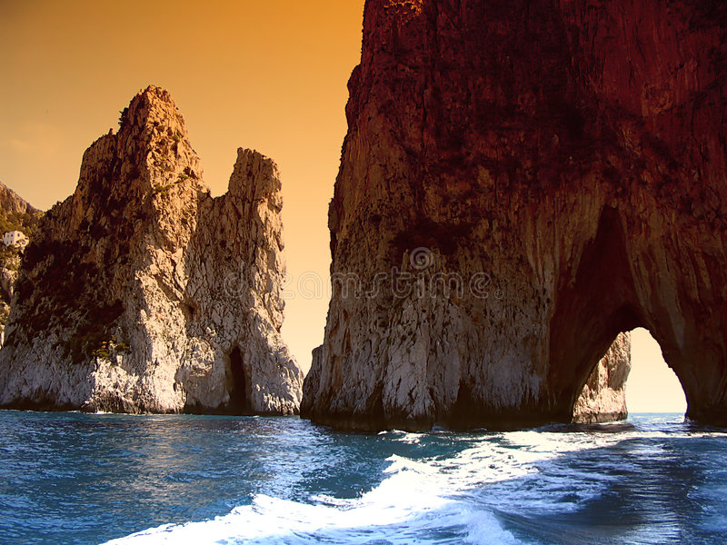 capri Италия стоковое изображение