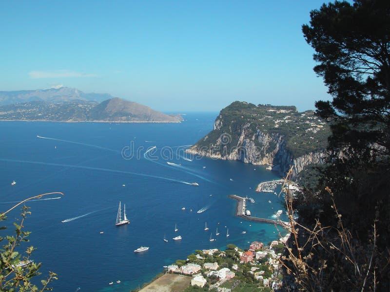 Capri Bay Italy royalty free stock photo