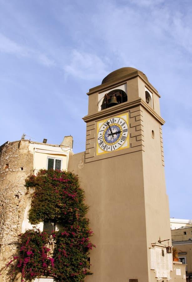 Capri Clocktower images libres de droits