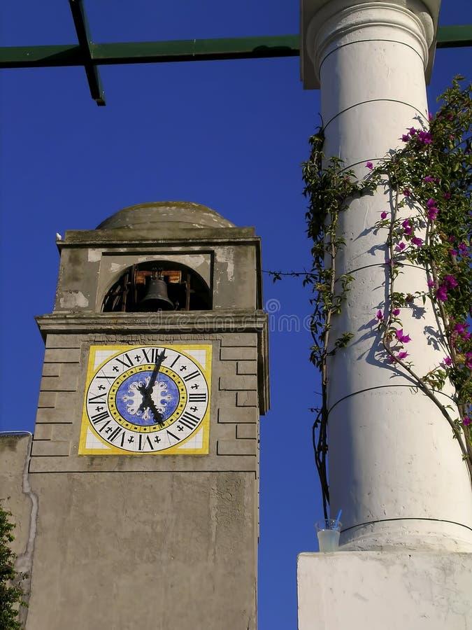 capri De Klokketoren royalty-vrije stock afbeelding
