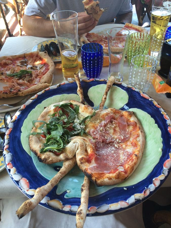 Capri-Eilandpizza stock fotografie