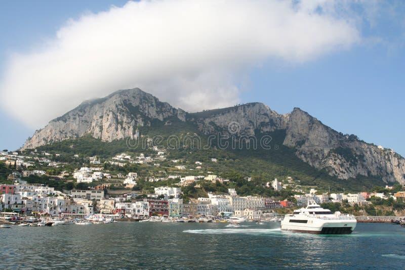 Capri Hafen. stockfotos