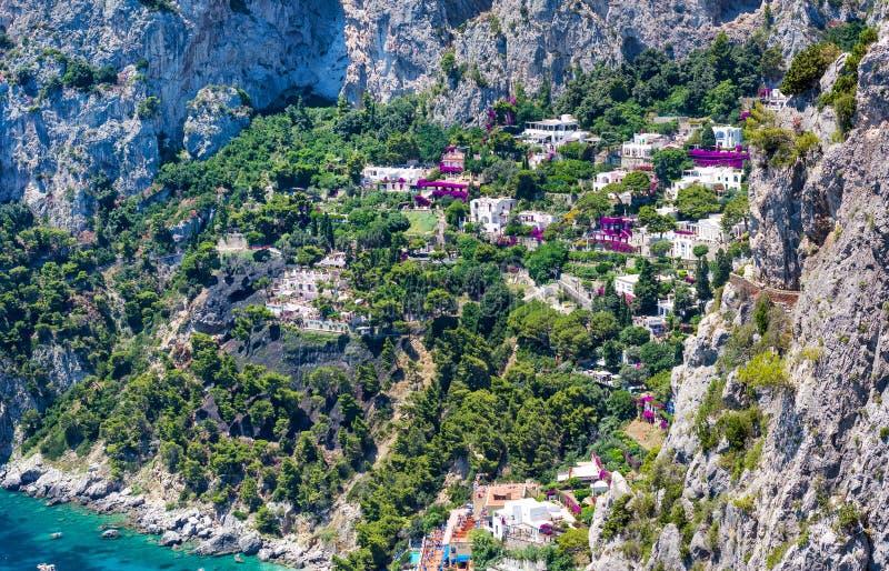 Capri-Insel, Mittelmeerarchitektur, Italien lizenzfreie stockfotografie