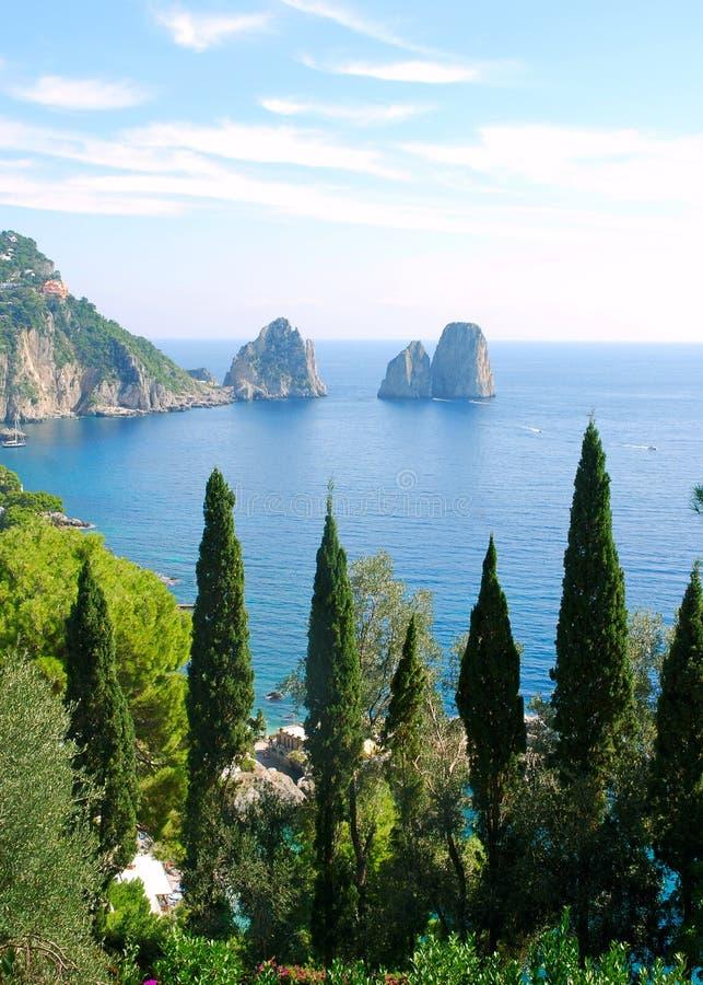 Capri island stock photos