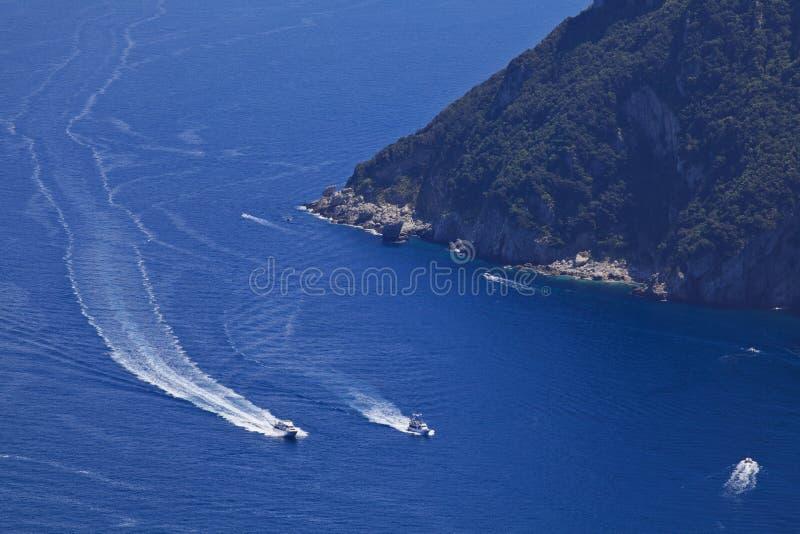 Download Capri Island, Italy stock image. Image of modern, speedboat - 15829277