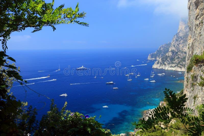 Download Capri Island stock image. Image of summer, island, boats - 39514435