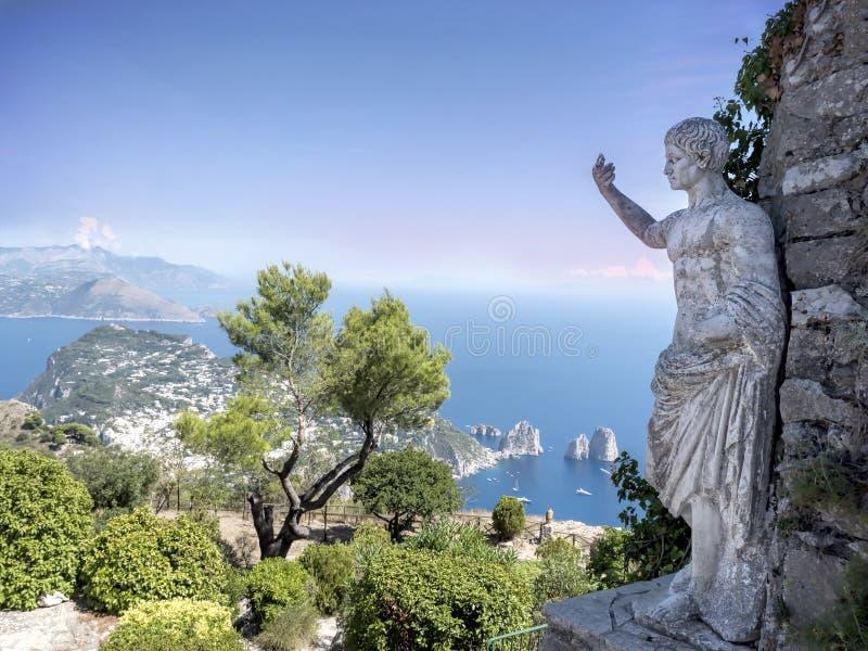 Capri Island, Italy. Capri Island from Mount Solaro, Italy stock image