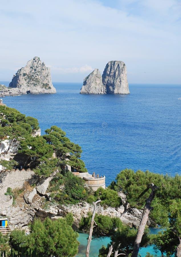 Capri island, summer view stock photo