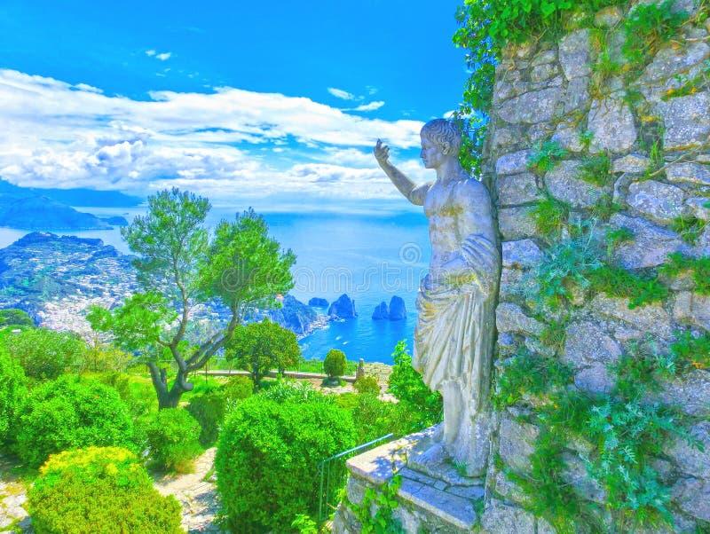 Capri, Italië - Mooie mening over het Eiland, royalty-vrije stock afbeelding
