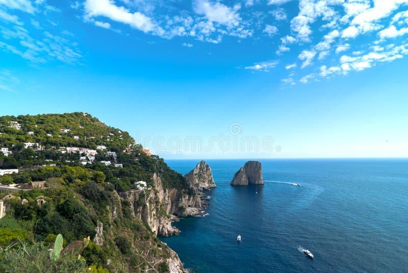 Capri, Italie. images libres de droits