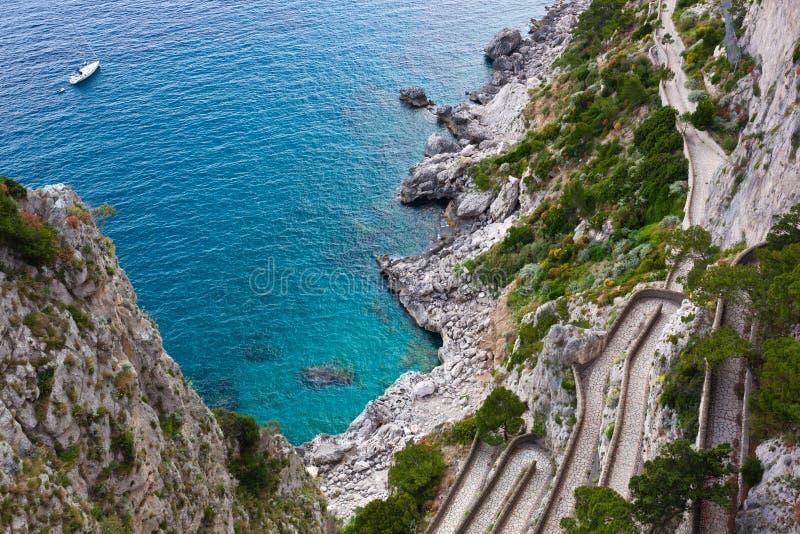 capri Italy krupp przez zdjęcia stock