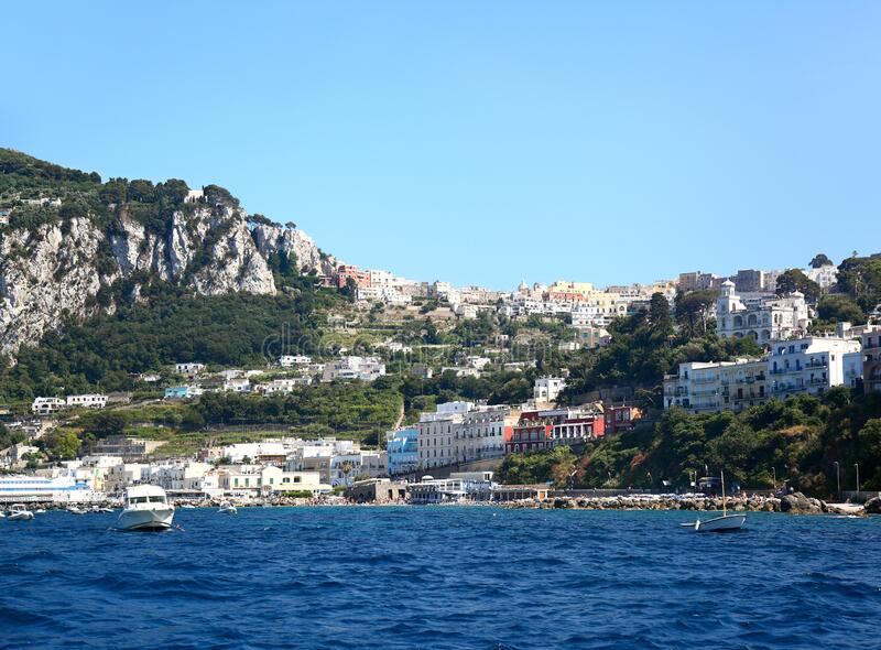 Capri, Italy - View from the water stock image