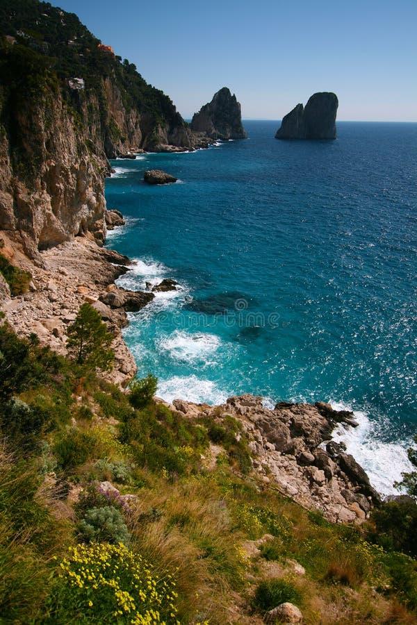 Capri Küstenlinie stockfotografie