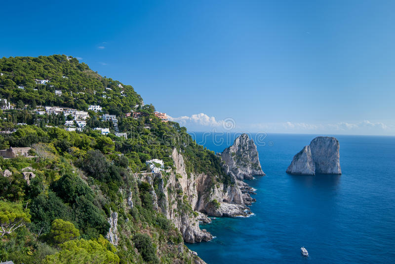 Capri. L'Italie. image stock