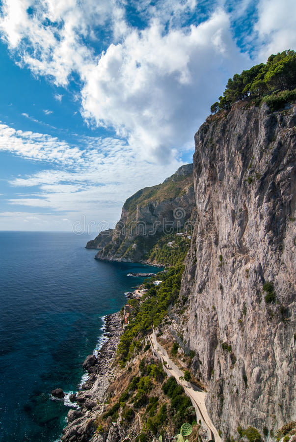 Capri. L'Italie. photographie stock