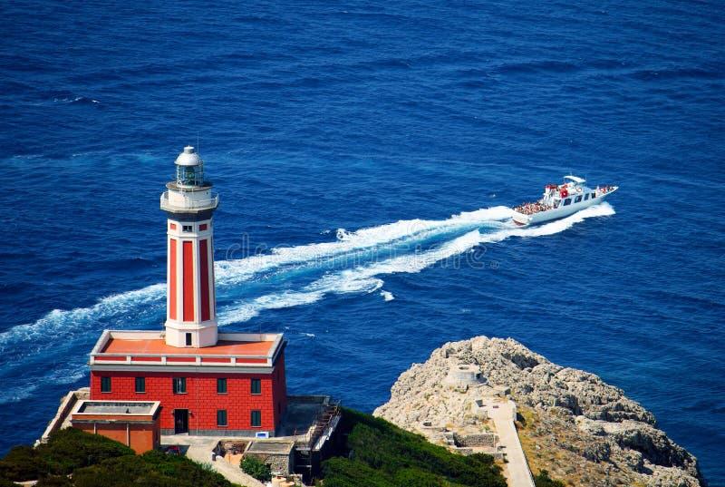 Capri Leuchtturm Italien stockbild