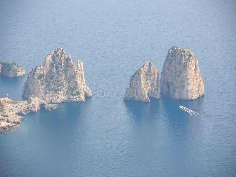 Capri Naples Piękny i słynny Faraglioni zdjęcie stock